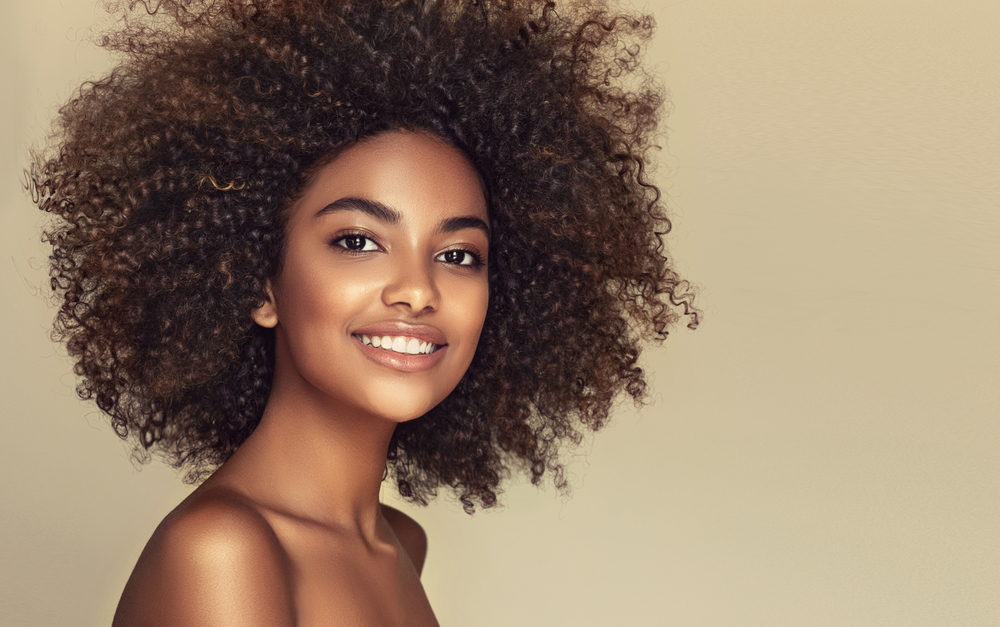 Beauty,Portrait,Of,African,American,Black,Woman,With,Clean,Healthy